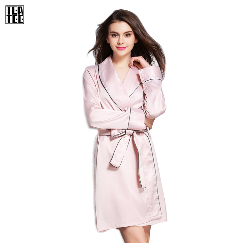 buy warm sexy pajamas robe sexy femme kimono bathrobe soft pink bride long. Black Bedroom Furniture Sets. Home Design Ideas