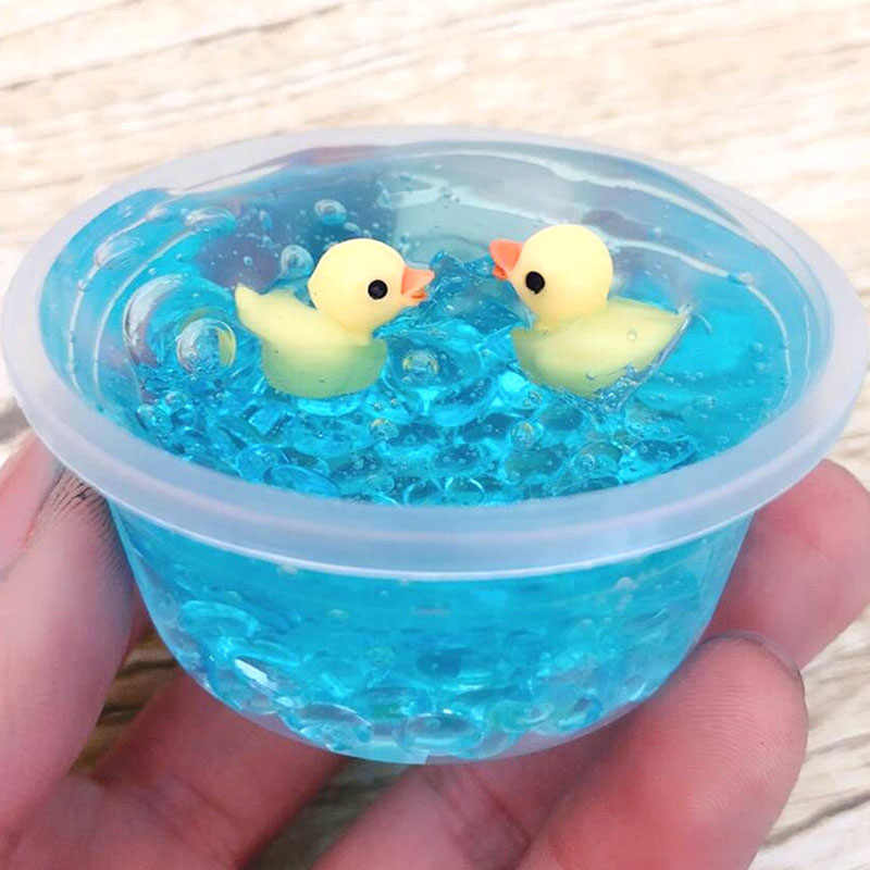 New Hot Sales 100ml Duck Mud Mixing Cloud Slime Putty Scented Stress Kids Slices Clay Toys Office Antistress Toy for Children