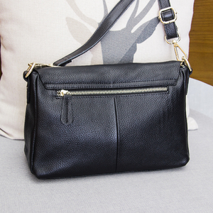 Image 3 - Genuine Leather Womens Shoulder Bags for Women Fashion Ladies CrossBody Bag Female Cow Leather Flap Handbags