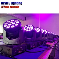 Stage Lighting 12PCS 8W RGBW 4in1 Led WASH Moving Head Light Stage Party lumiere Dj Dmx lighting