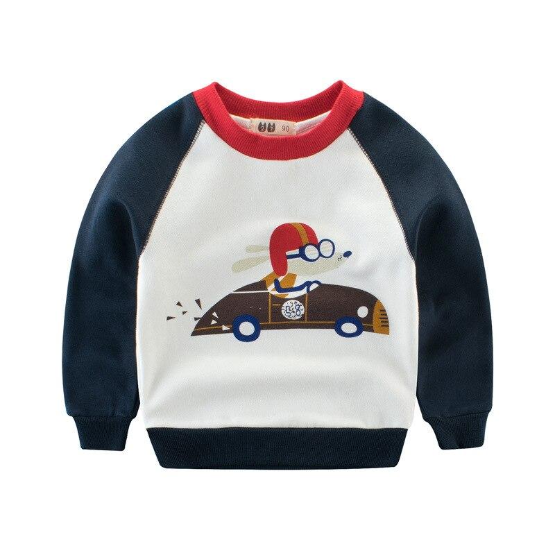 Весна осень с мышонком из мультфильма в автомобиль Черный Длинные рукава для маленьких мальчиков Пот футболка Детские Топы пуловер для дет...