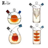 Creative Kitchen Oil And Vinegar Bottles Sauce Glass Jar Sealed Multifunction Seasoning Glass Storage Bottle Wine