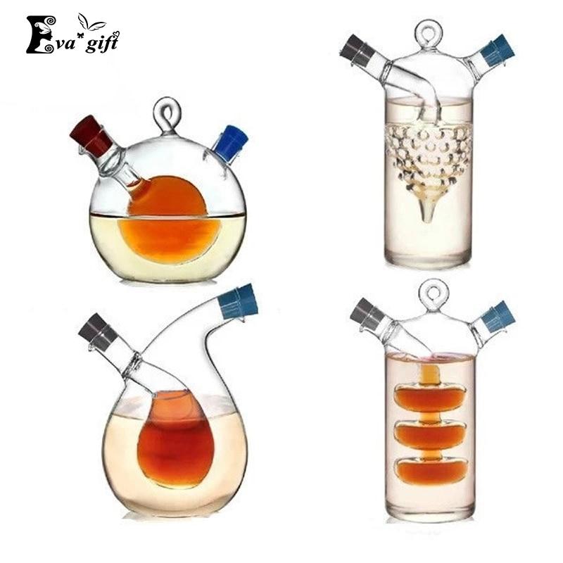 Фотография Оригинальная двойная стеклянная бутыль для кухни