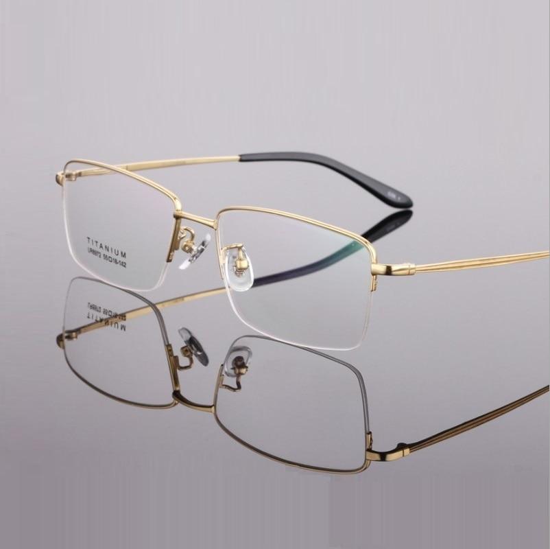 width 143 Pure Titanium Glasses Eyewear Frames Eyeglasses Frames Business Men Half Rim Brand Opitcal Myopia Glasses Eyewear New in Men 39 s Eyewear Frames from Apparel Accessories