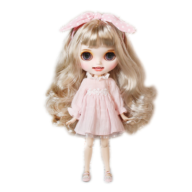 Katy – Premium Custom Blythe Doll with Clothes Smiling Face