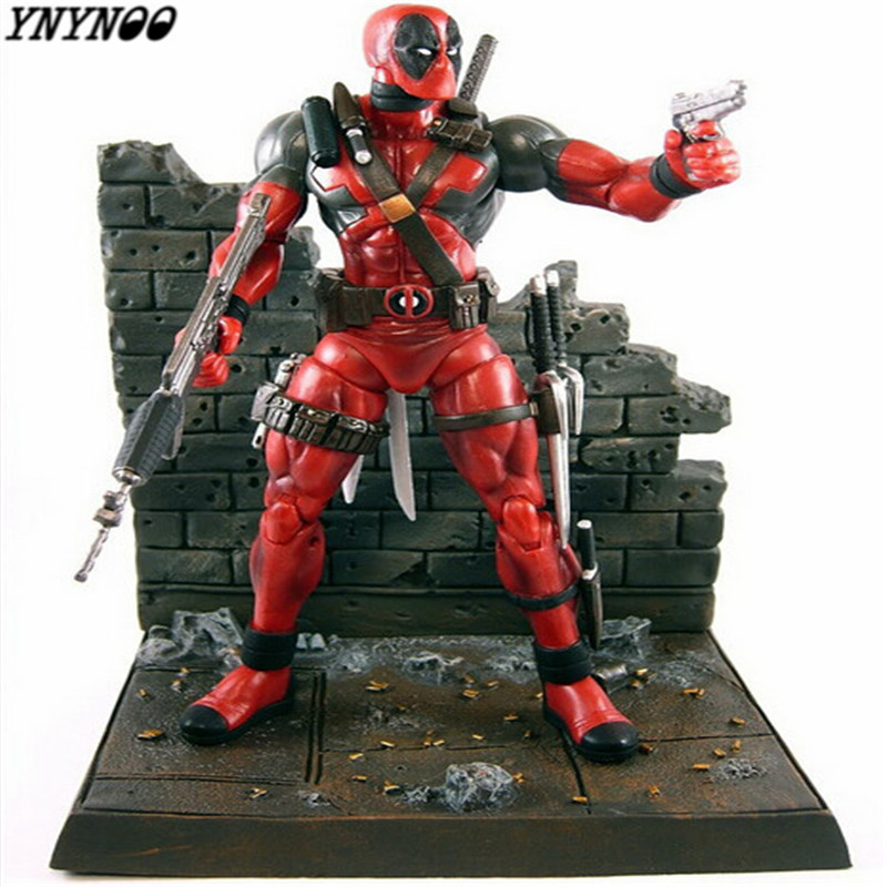 YNYNOO NEW Hot 18cm X-Men Deadpool action figure toys collection mobile toy doll Christmas gift in box K448 new hot 20cm touken ranbu online hotarumaru action figure toys collection christmas toy doll
