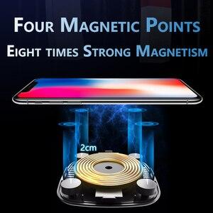 Image 3 - Cargador inalámbrico Qi magnético de coche para iPhone X XS 8 10W carga rápida inalámbrica cargador de inducción de teléfono para Samsung S8 S9