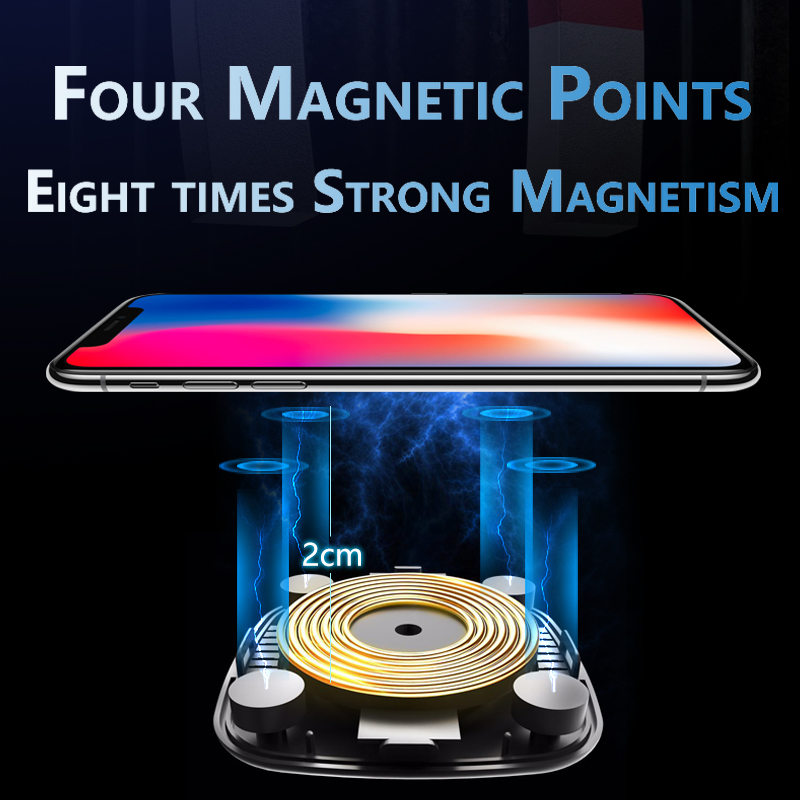 Image 3 - Qi Magnetic Car Wireless Charger Magnet for iPhone X XS 8 10W Fast Wireless Charging Phone Induction Charger for Samsung S8 S9-in Mobile Phone Chargers from Cellphones & Telecommunications