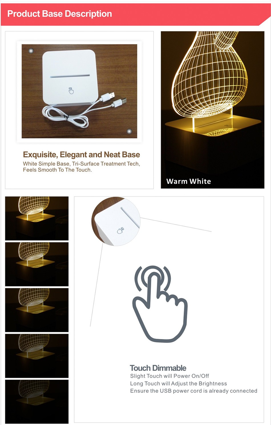 Usb Bottle Light for KLEIN BOTTLE 3D Led Touch Table Lamp as Creative Gifts Night Light Lampara Infantil (7)