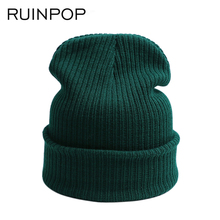 New Fashion Winter Hat Women Man Hat Skullies Beanies Unisex Warm Hat Knitted Cap Hats For Men Beanies Simple Warm Cap Soft Cap