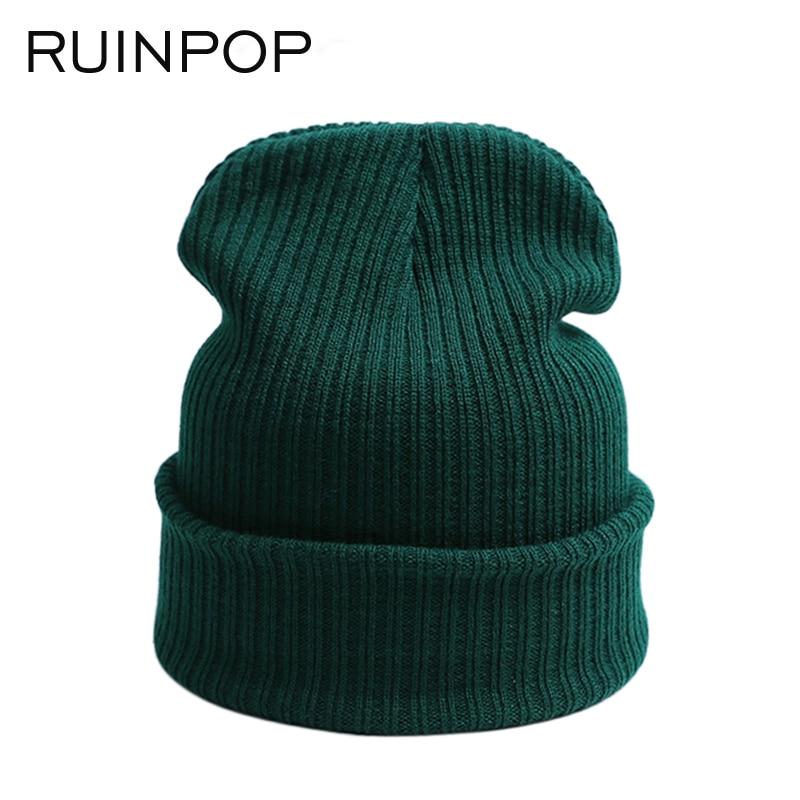 RUINPOP Winter Women Skullies Beanies Hats For Men Cap