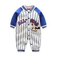 Baseball Daddy's Jumpsuit Body Baby Boy Clothes 1st birthday Bodysuit Infantil Macacao Bebe Menino Bebek Giyim Infant Clothing