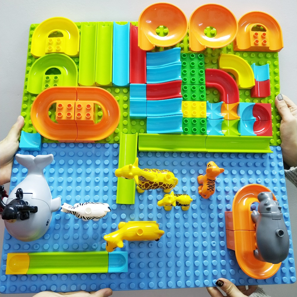 DIY Large Particle Building Blocks Accessories Marble Race Run Maze Ball Track Compatible Legoingly Duploed Assemble Bricks ToysDIY Large Particle Building Blocks Accessories Marble Race Run Maze Ball Track Compatible Legoingly Duploed Assemble Bricks Toys