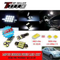10x LED Car Auto Interior Canbus Dome Map Reading Light White 2835 Chips Kit For VW
