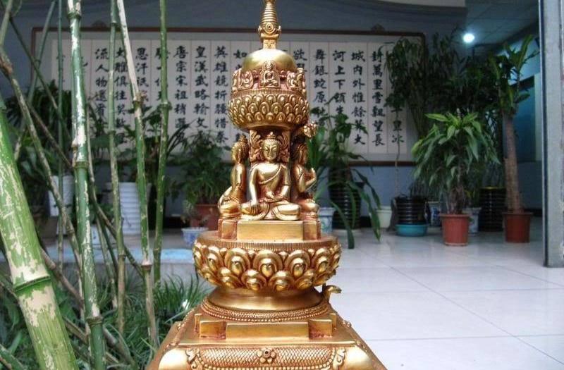 12Tibet Copper Bronze Gold Gild Sakyamuni Buddha pagoda tower Buddhist pagoda 8.0212Tibet Copper Bronze Gold Gild Sakyamuni Buddha pagoda tower Buddhist pagoda 8.02