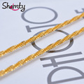 50cm Africa 24k gold necklace Unisex Snake chain Environmental protection Prevent allergy