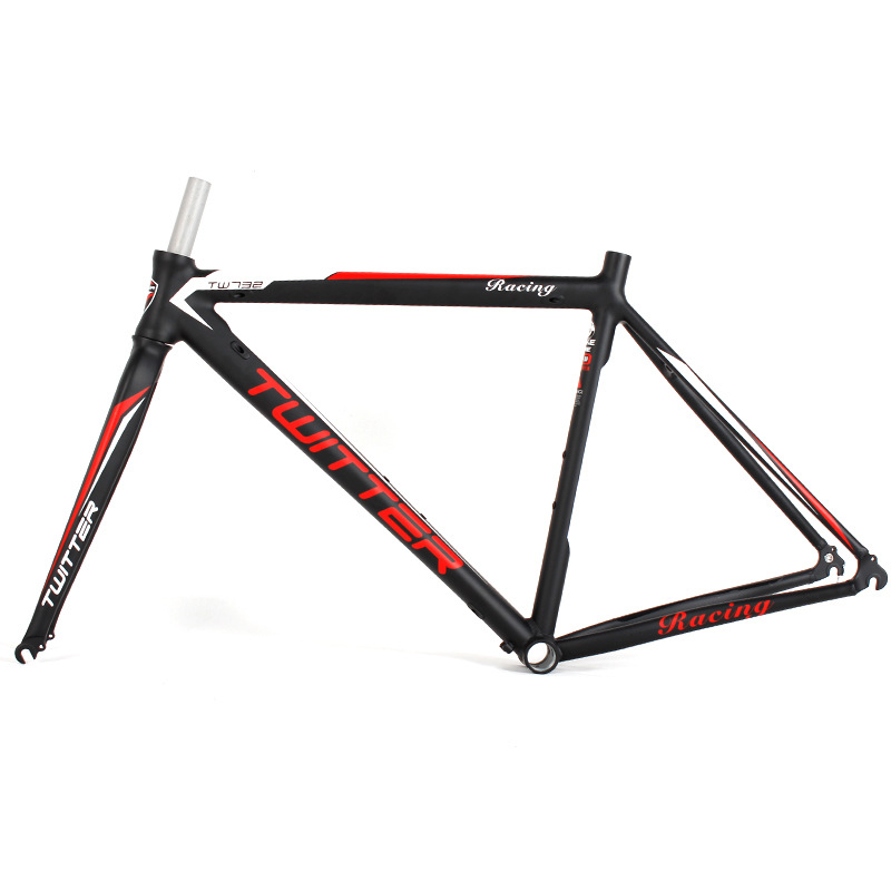 Aluminium alloy Road Bike Frame 700C Wheel TW732 Racing Bicycle Frame 46/48/50/52cm +Fork 31.6mm west biking bike chain wheel 39 53t bicycle crank 170 175mm fit speed 9 mtb road bike cycling bicycle crank