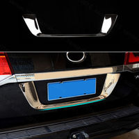 Chrome For Toyota Land Cruiser LC200 08 2017 Rear license plate frame Cover trim