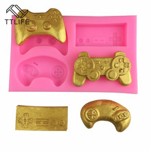 TTLIFE Game Handle Shape Cookie Cutter Set DIY 3D Silicone Mold Fondant Cake Decorating Tools Sugarcraft