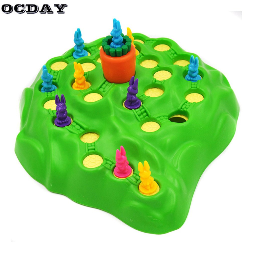 Rabbit Competitive Family Party Board Game Trap Game Play Chess Children Toys Early Childhood Educational Toy For Birthday Gift