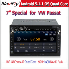 2 Din Android5.11 Quad Core Wifi GPS Navigation 7 Inch Car DVD Player For VW/Volkswagen/Passat/TRANSPORTER/Golf/Skoda free map