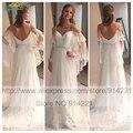 Свадебные платья Noiva 2016 шифон кружева дешевые чешские свадебные платья сексуальная Boho пляж свадебные платья 2016 халат де mariée Casamento