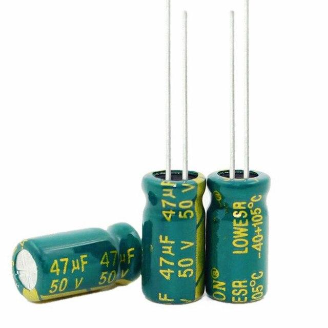 Hoge frequentie kristal 47 uf 47 uf 50 v 50 v 47 uf 47 uf 50 v Maat: 6X12 MM beste kwaliteit Nieuwe origina