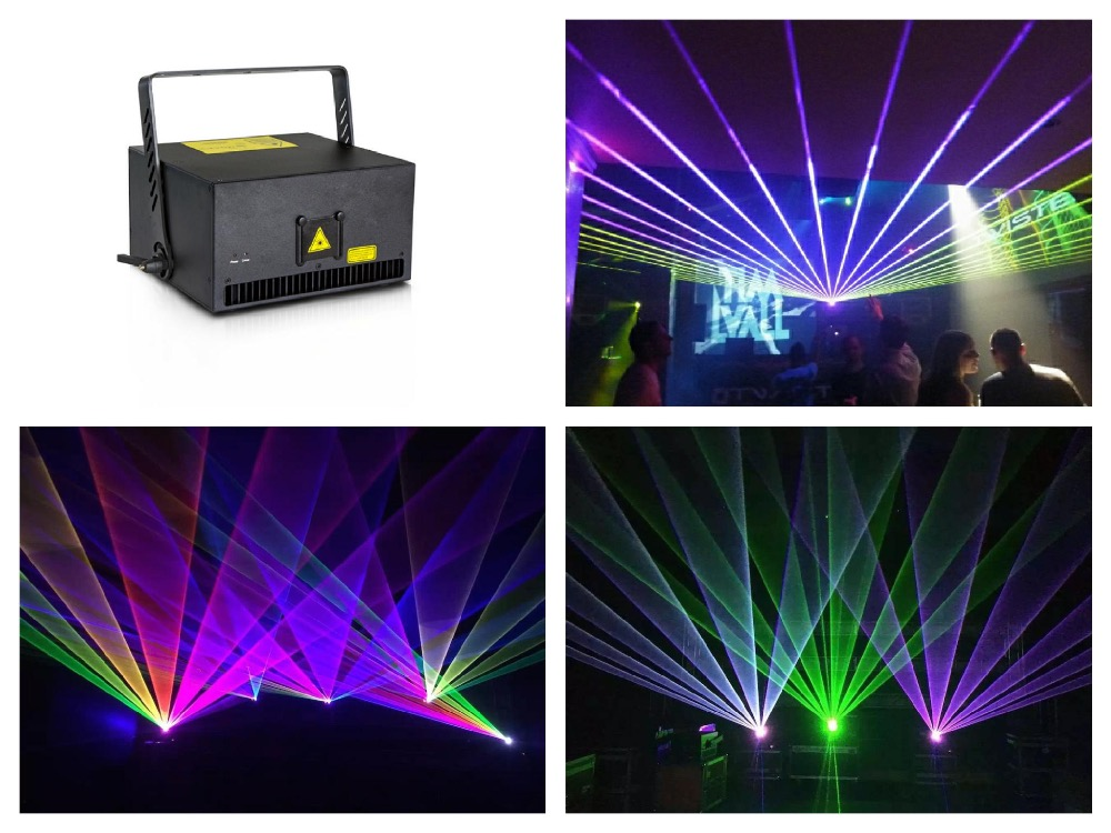 Flightcase + High Power Laser 8W RGB Animation Show Stage Light X/Y Axis Analog 40Kpps Scanner ILDA Control Event Wedding Party