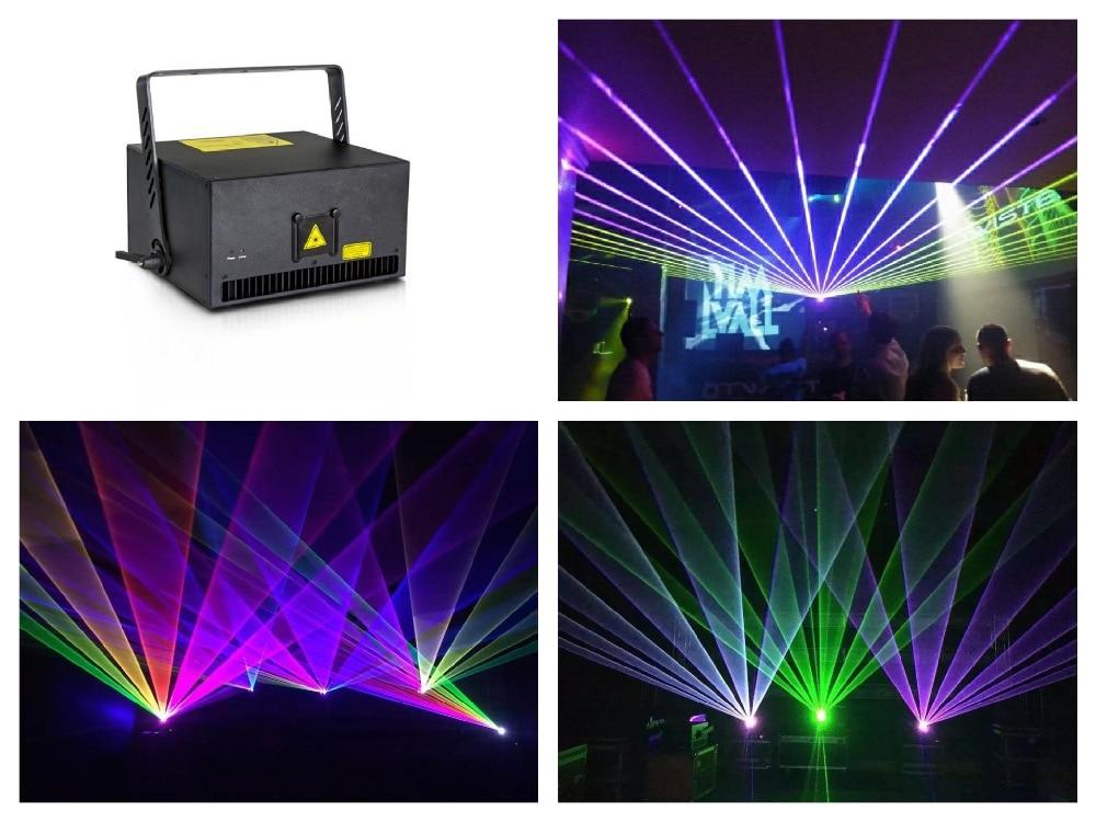 flightcase + High Power Laser 8W RGB Animation Show Stage Light X/Y axis Analog 40Kpps scanner ILDA Control event wedding party