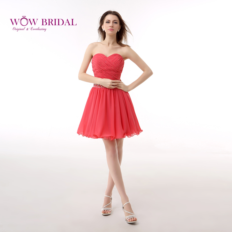 Short Coral Homecoming Dresses Promotion-Shop for Promotional ...