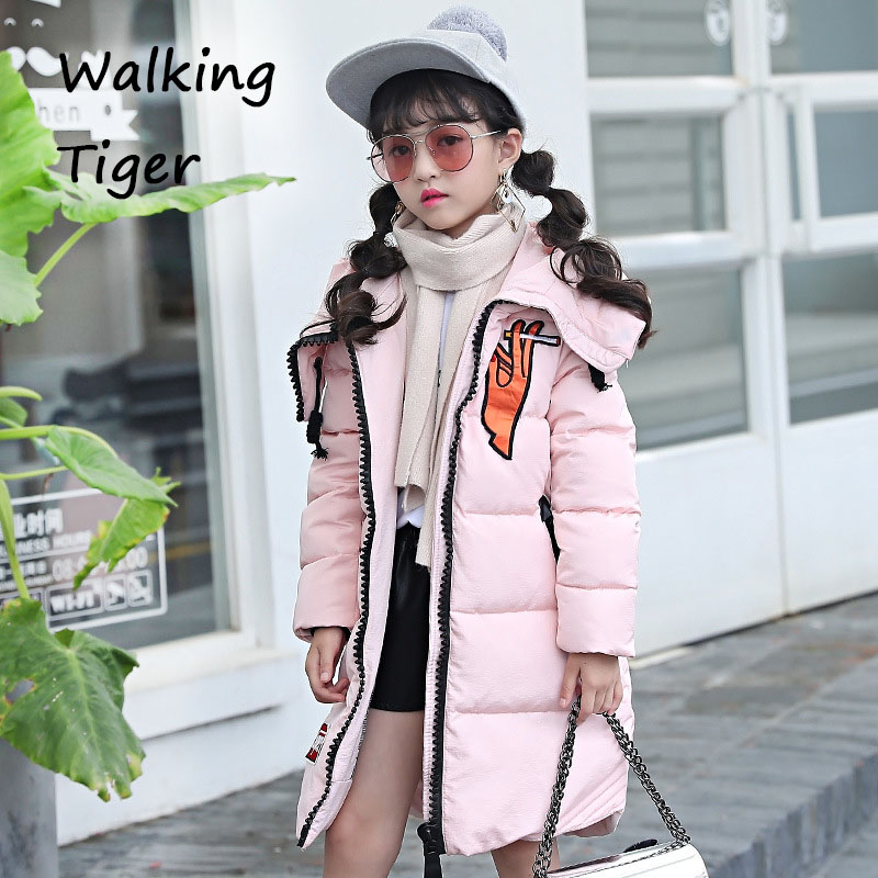Children down jacket girls winter coats clothes fashion 2017 kids thicken overcoat girl clothing fashion girl thicken snowsuit winter jackets for girls children down coats outerwear warm hooded clothes big kids clothing gh236