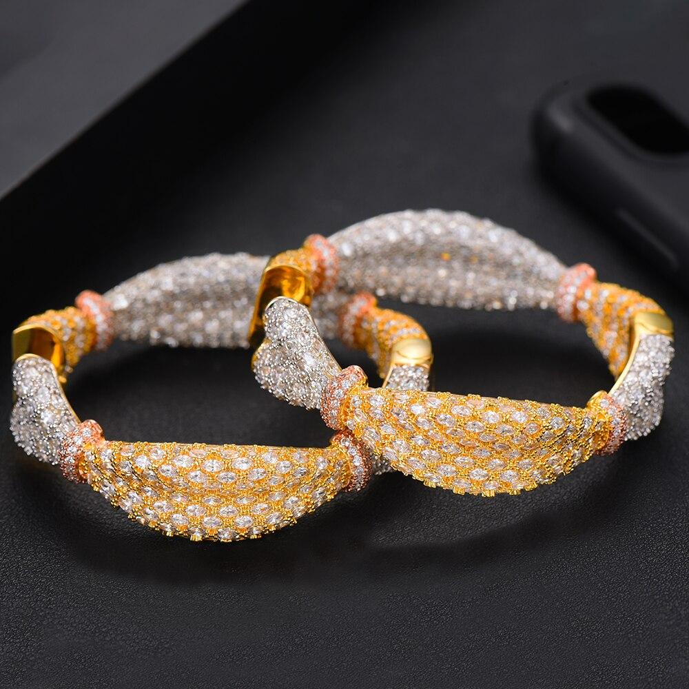 GODKI luxe oreille bonbons déclaration grand cerceau boucles d'oreilles pour les femmes de mariage cubique Zircon CZ DUBAI nuptiale ronde cercle boucle d'oreille 2019 - 3