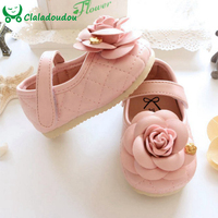 Girl Baby Shoes With Three Dimensional Flower Pink Cute Baby Girl Shoes For 0 5 Years