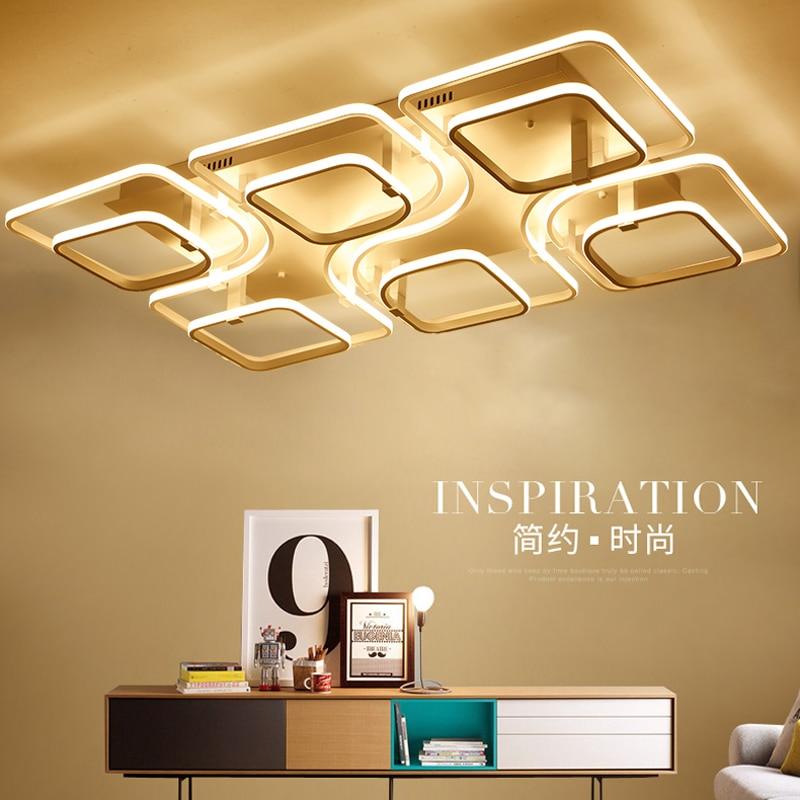 akryl led fyrkantiga taklampor moderna taklampor för vardagsrum ljus - Inomhusbelysning - Foto 1