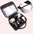 Mujeres de moda bolso cosmético profesional de gran capacidad encantadores bolsas de maquillaje pequeño Portable impermeable para mujer cosméticos de almacenamiento