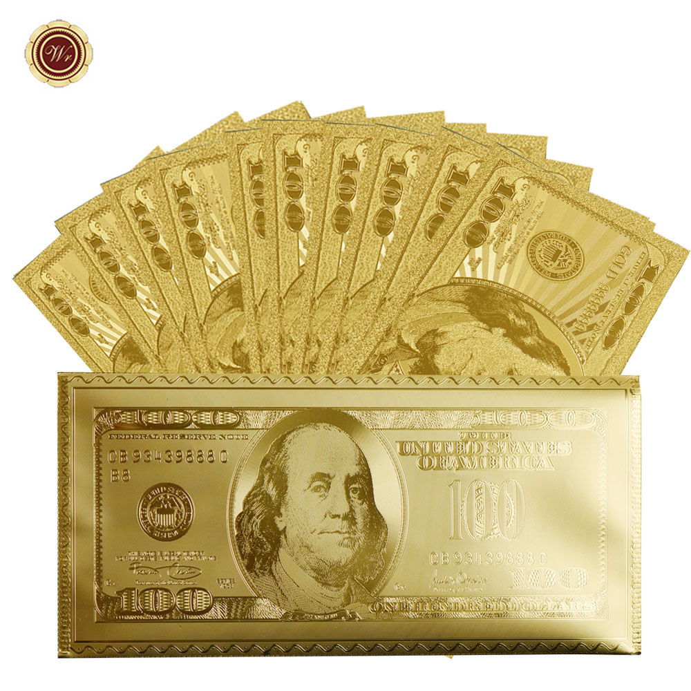 Wr America Dollar Gold Banknote Usa 100 Currency Bill Paper Money Coin In Non Coins From Home Garden On Aliexpress