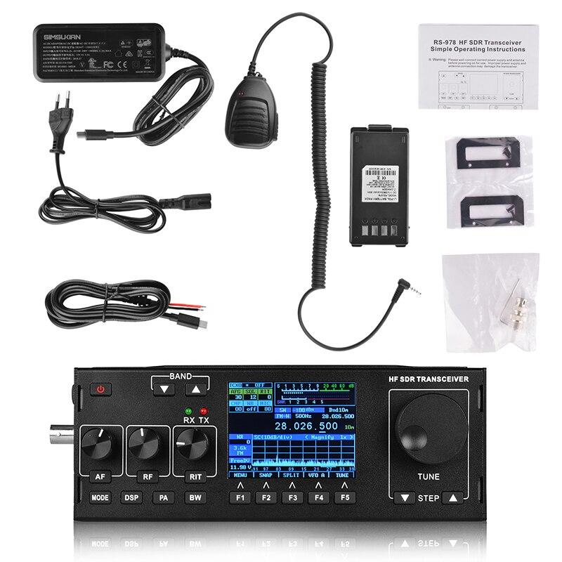 Image 5 - New Arrival RS 978 SSB HF SDR HAM RADIO 1.8 30MHz SSB HF Transceiver with 3800mah li ion battery packWalkie Talkie   -