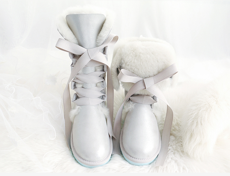 2016 Australia real fur Snow Boots Women Boots 100% Genuine Leather  Winter Warm Snow Boots Ankle Boots 2016 australia women boots genuine sheepskin leather snow boots 100