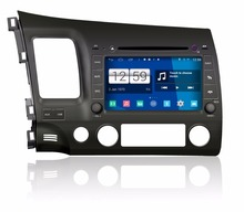 S160 Android 4 4 4 CAR DVD player FOR HONDA CIVIC 2006 2011 car audio
