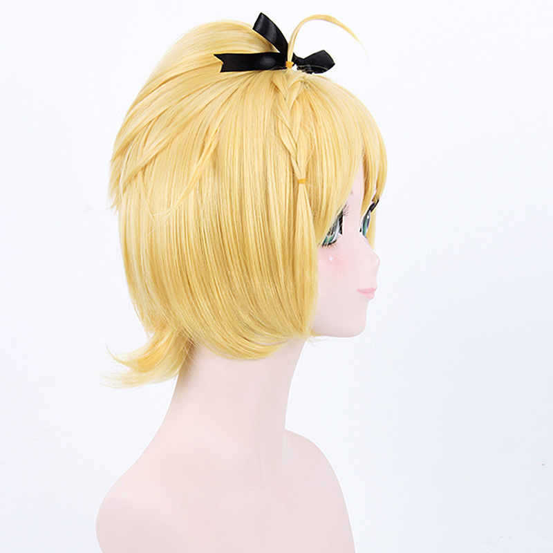 Hot Anime Felt Re Life In A Different World From Zero Cosplay Wig Halloween Play Wig Party Stage High Quality Short Yellow Hair