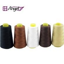 1 шт., 2500 м, вплетаемые волосы, хлопковая нить для рукоделие ткачество, бразильские человеческие волосы для наращивания, высокоинтенсивные нитки, инструменты для париков