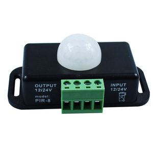 Image 4 - Автоматический Инфракрасный датчик движения, 120 градусов, 12 В 24 В, 8 А, светодиодный светильник 5 ~ 8 м