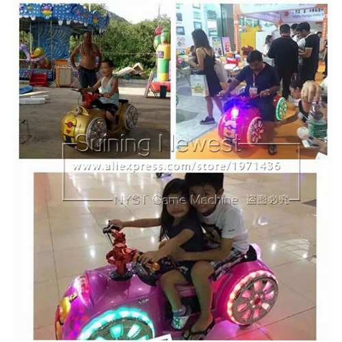 Amusement Park Equipment Coin Operated Kids Moto Racing Games Kiddie Rides Playground Electronic Battery Bumper Cars 1