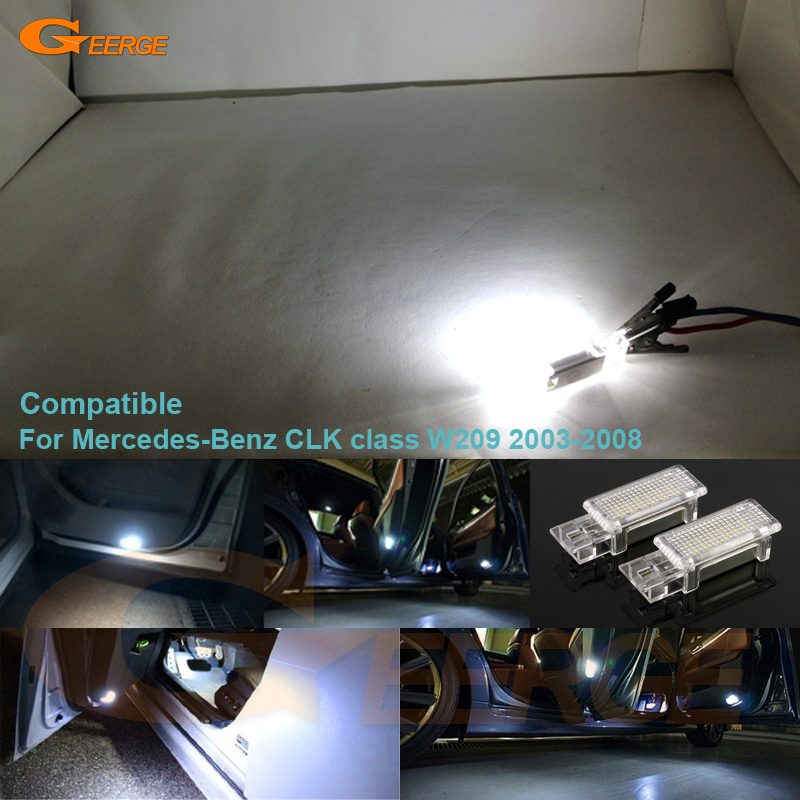 For Mercedes-Benz CLK class W209 2003-2008 Excellent Ultra bright 3528 LED Courtesy Door Light Bulb No OBC error