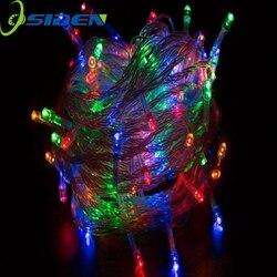 1 قطعة 220 فولت/110 فولت 50 متر 500LED الدافئة الأبيض الأحمر الأصفر الأزرق الأخضر الأرجواني الوردي متعدد الألوان سلسلة أضواء لعيد الميلاد حزب الزفاف