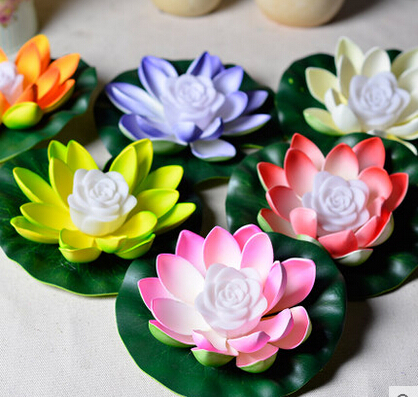 China Paper Crafts Water Lantern Lotus Flower Floating Lanterns For