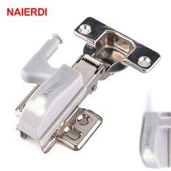 Naierdi universal dobradiça luz led sensor armário de luz dobradiças interiores lâmpada casa cozinha quarto guarda-roupa luz da noite