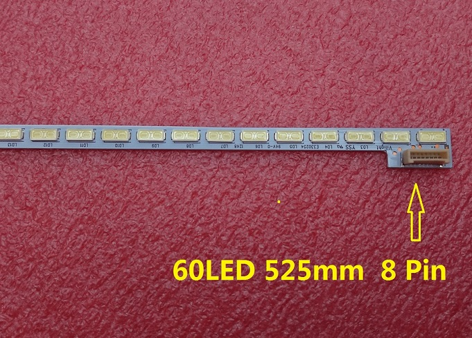 New 60LED 525mm LED Backlight Strip For LG 42LS570T T420HVN01.0 42inch TV 74.42T23.001-2-DS1 74.42T23.001