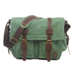 Image 3 - TEXU Men messenger bags canvas leather big shoulder bag famous designer brands high quality mens travel bags high quality