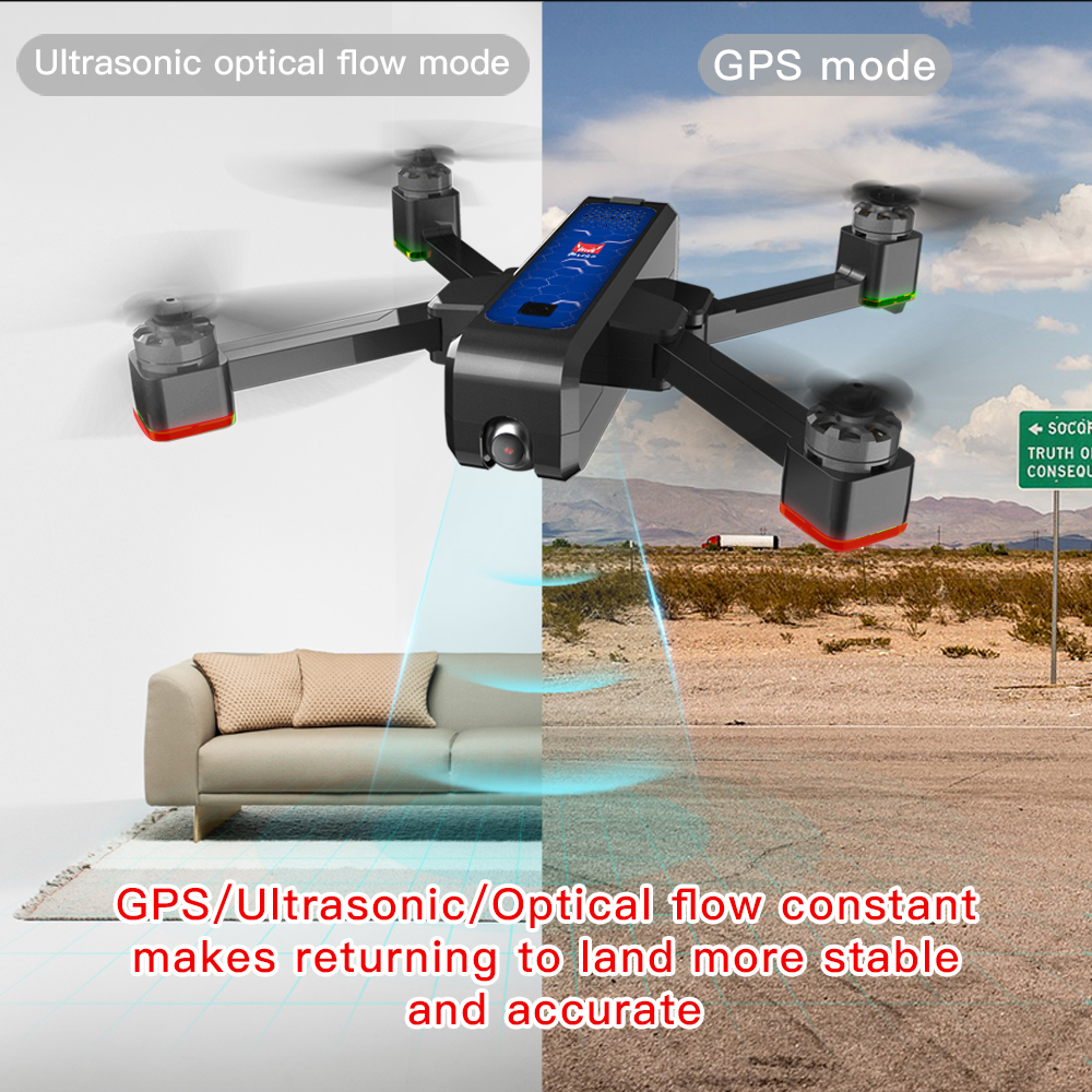 Image 5 - Mjx Bugs4 W B4w 5g Wifi Fpv Gps Brushless Foldable Ultrasonic Rc Drone 2k Camera Anti shake Optical Flow Rc Quadcopter Vs F11-in RC Helicopters from Toys & Hobbies